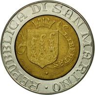 Monnaie, San Marino, 500 Lire, 1989, Rome, TTB, Bi-Metallic, KM:239 - Saint-Marin