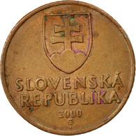 Monnaie, Slovaquie, 50 Halierov, 2000, TB+, Copper Plated Steel, KM:35 - Slovaquie