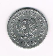 &  POLEN  1  ZLOTY  1949 - Pologne