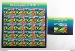 St.Kitts 2015** Mi.1497 + Bl.155. Hummingbirds Of St.Kitts MNH [16;82] - Hummingbirds