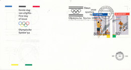 DC-1059 - FDC NETHERLANDS 1992 - E 290 OLYMPICS VOLLEYBALL FIELD HOCKEY SPEC. POSTMARK SUPPORT THE OLYMPICS - OPEN COVER - Volleyball