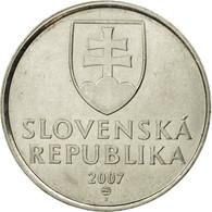 Monnaie, Slovaquie, 5 Koruna, 2007, TTB, Nickel Plated Steel, KM:14 - Slovaquie
