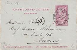 BELGIQUE 1894  ENTIER POSTAL/GANZSACHE/POSTAL STATIONERY ENVELOPPE-LETTRE DE TIRLEMONT - Entiers Postaux