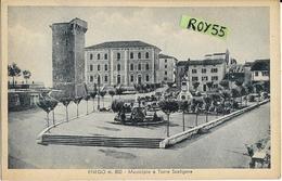Veneto-vicenza-enego Veduta Municipio Torre Scaligera Giardino Palazzi Anni 40 - Italy