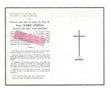 Z 363. SOEUR MARIE-FIDELIA (A. VAN HOUTTE) - °OLSENE 1882 / +Clinique LOUVAIN 1961 - Images Religieuses