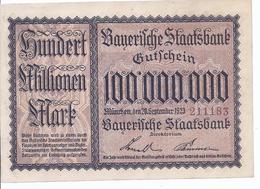 München Bayerische Staatsbank - Hundert Millionen Mark A. 1923  -   AK-13.414 - [11] Emissioni Locali