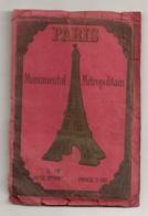 Année 30 PLAN PARIS MONUMENTAL METROPOLITAIN  / METRO LIGNE NORD SUD / LIGNE METROPOLITAIN  B488 - Europe