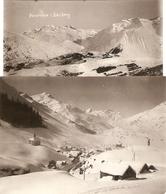 "Lot Of 2 Swiss Photos, Panorama Von Bazberg / Basberg By ""J. Gassler Photograph."", Andermatt, Canton D'Uri, Ca 1900 - Lieux"