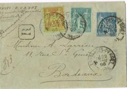 R10-entier Postal Enveloppe En Recommandé, Levallois Perret Seine - 1877-1920: Période Semi Moderne
