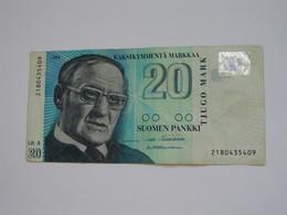 20 Kaksikymmenta Markkaa - Suomen Pankki - FINLANDE 1993  **** EN ACHAT IMMEDIAT **** - Finlande