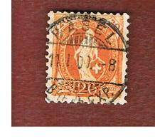 SVIZZERA (SWITZERLAND) -  SG 214 -  1882  STANDING HELVETIA 20  - USED - Oblitérés