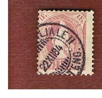 SVIZZERA (SWITZERLAND) -  SG 152B   -  1882  STANDING HELVETIA 1 FR. PURPLE  - USED - 1882-1906 Stemmi, Helvetia Verticalmente & UPU
