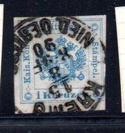 "Österreich, 1858/1878, Zeitungs Stempelmarken, 1Kreuzer, MiNr.5, Ortsstempel ""Krems"" (17066E) - Zeitungsmarken"