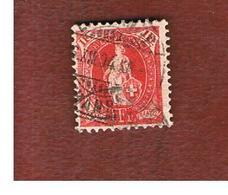 SVIZZERA (SWITZERLAND) -  SG 219   -  1882  STANDING HELVETIA 1 FR. RED  - USED - Oblitérés