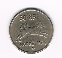 &  NOORWEGEN  50  ORE 1964 - Norvège