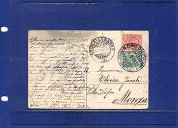 ##(DAN1811)-1913-Annullo Natante Arona-Locarno Su Cartolina Pallanza Per Monza - 1900-44 Victor Emmanuel III.