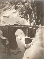 Old Uri Photo, Gotthardstrasse, Teufelsbrücke Bei Andermatt, Photo Gassler ?, Ca 1900, Good Condition, Pont Du Diable - Lieux