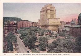 """MONTREAL +/-1910  """"Sun Life Building And Dominion Square """"  Voir Scans - Montreal"""