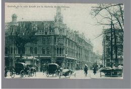 CHILE Santiago Entrada De La Calle Estado Por La Alameda De Las Delicias Tram 1919 OLD POSTCARD 2 Scans - Cile