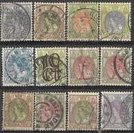_2Z-721: Restje Van 12 Zegels....diverse... Om Verder Uit Te Zoeken.. - Used Stamps