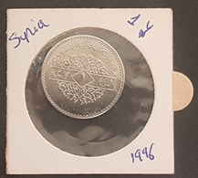 HX - Syria 1996 1 Livres Coin KM #132 - State Coat Of Arms - UNC - Syria