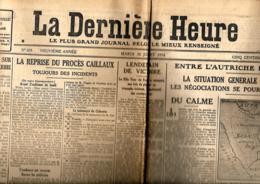 La Dernière Heure   28/7/1914 - Journaux - Quotidiens