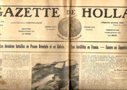 La Gazette De Hollande   2/9/1914 - Journaux - Quotidiens