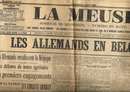 La Meuse   5/8/1914 - Journaux - Quotidiens