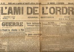 L'Ami De L'Ordre   9 & 10/12/1914   Publié Sous Contrôle De L'autorité Militaire Allemande - Journaux - Quotidiens