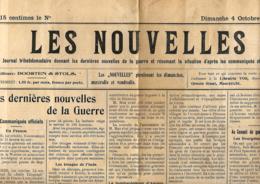 Les Nouvelles  4/10/1914   Publié à Maastricht - Journaux - Quotidiens