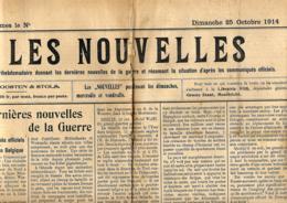 Les Nouvelles  25/10/1914   Publié à Maastricht - Journaux - Quotidiens