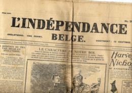 L'Indépendance Belge  5/11/1914   Publié à Londres - Journaux - Quotidiens