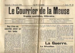 Le Courrier De La Meuse  1/11/1914   Publié à Maastricht - Journaux - Quotidiens