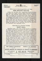 MONO KARTE → Internat. Mono-Gesellschaft Winterthur (Saint Gall) - Publicités