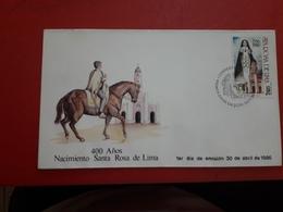 Le Chili FDC 400 Ans Du Nacimieno Rosa Sainte De Lima - Christentum