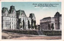 """MONTREAL +/- 1910  """"City Hall And Court House From Craig St -L'Hotel De Ville Et Le Palais De Justice.   """"    Voir Scans - Montreal"""