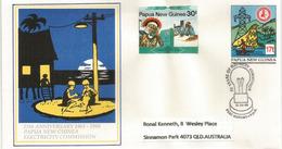 Papua New Guinea Electricity Commission (Postal Stationery - Entier Postal) . , Adressé En Australie - Electricity