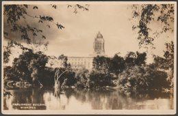 Parliament Building, Winnipeg, Manitoba, C.1920 - S J Hayward RPPC - Winnipeg