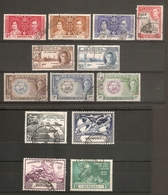 BERMUDA 1937 - 1949 COMMEMORATIVE AND SURCHARGE SETS  FINE USED Cat £15.65 - Bermuda