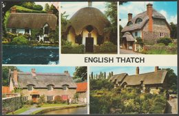 Multiview, English Thatch, C.1970 - Colourmaster Postcard - United Kingdom