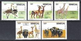 Senegal  Yv 675/9, Faune, Animaux De La Réserve De Guembeul ** Mnh - Sénégal (1960-...)
