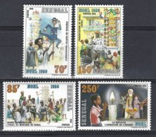 Senegal  Yv 680/3 , Noël 1986 ** Mnh - Sénégal (1960-...)