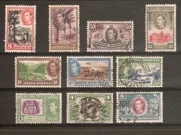 BRITISH HONDURAS 1938 - 1947 SET TO $1 SG 150/159 FINE USED - Honduras Británica (...-1970)