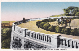 """MONTREAL  """" SEEING MONTREAL BY CARRIAGE FROM MOUNT ROYAL CANADA""""  +/-1910   Voir Scans - Montreal"""