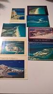 Set Lotto 8 Cartoline Postcard Mexico Isola Cancun Sheraton Calinda Villas Plaza - Messico