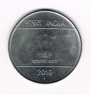 &  INDIA  2  RUPEES  2010 - Inde