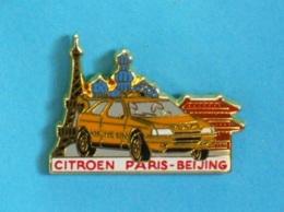 1 PIN'S //   ** RALLYE RAID / CITROËN / PARIS BEIJING ** . (Arthus Bertrand Paris) - Citroën
