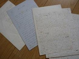 Jean Sulpice CALMELS D'ARTINSAC (1824-1896) GRAMAT (Lot) 3 X AUTOGRAPHE à Paul De Saint Victor [ Montvalent ] - Autographes