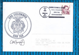 USA Cover US Navy / USS Columbus SSN-762 - Etats-Unis
