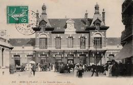 BERCK PLAGE 6 La Nouvelle Gare . Très Beau Cliché .Belle Animation. - Berck